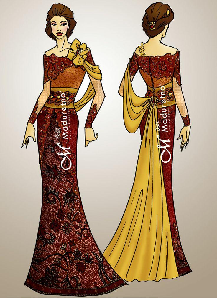 Desain Kebaya pesta : DS-KBY-002 Kami menerima design dan jahit busana batik (party, office, kasual, wisuda, kondangan, etc) contact SMS only ke 081.703.166.751 or sms/call 081.934639088 website : www.batikmaduretno.com
