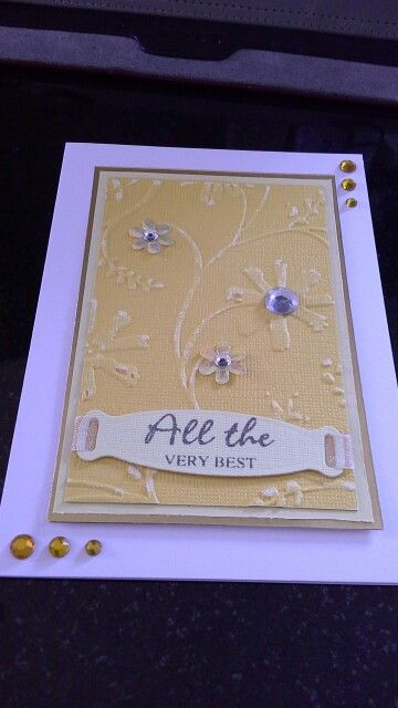 Using sissix texture boutique, textured card &  sanding down embossed element