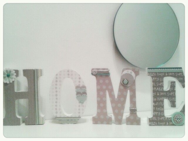 Letras de madera decoradas scrap
