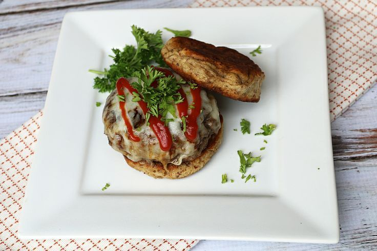 Low Carb Microwave Hamburger Bun