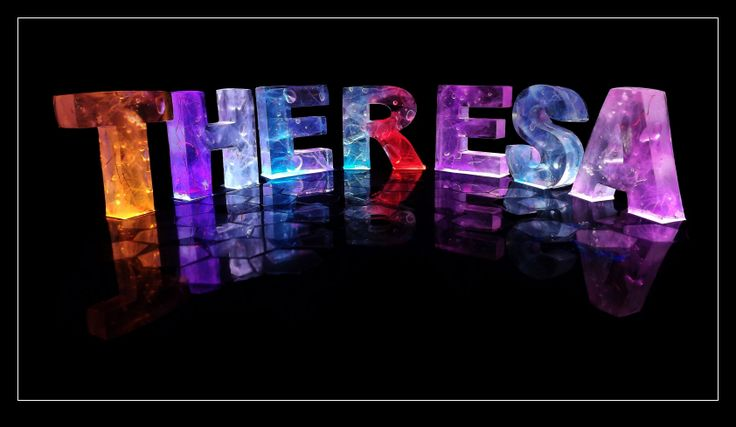 the name theresa  The Name Theresa in 3D coloured lights