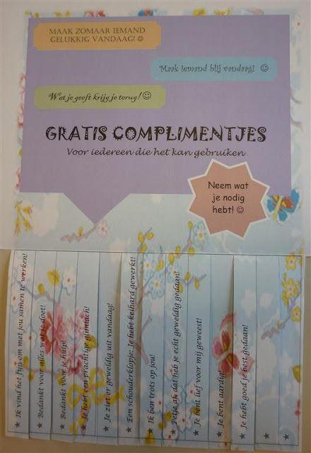 Complimentendag 1 maart - gratis complimenten / Compliments day 1 March - free compliments | Creatieve uitspattingen: