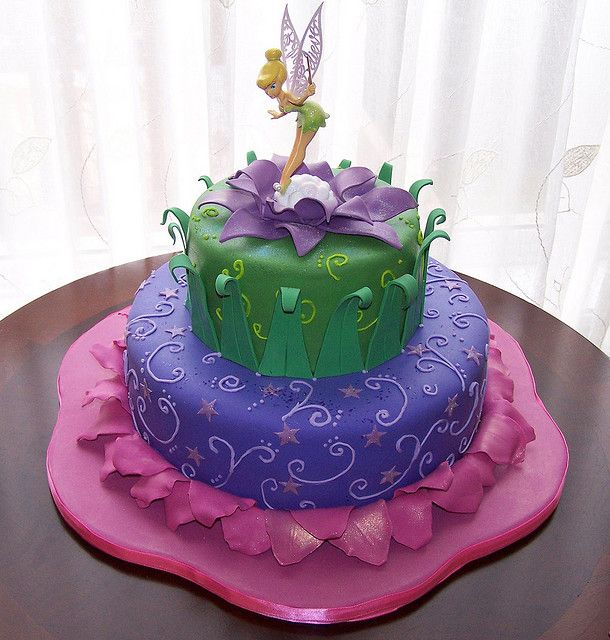 Tinkerbell Cake by cakespace - Beth (Chantilly Cake Designs), via Flickr