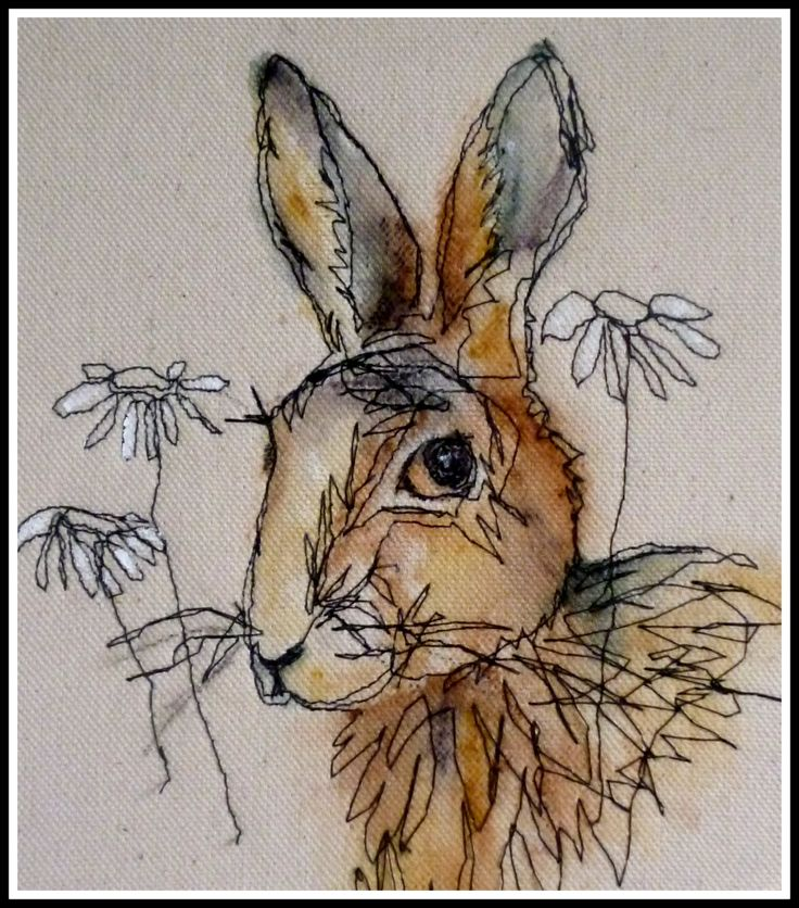 Another Loopy hare! - this artist shares many animal protraits on her Pinterest