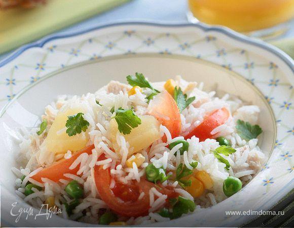 Гавайский салат с цыпленком.