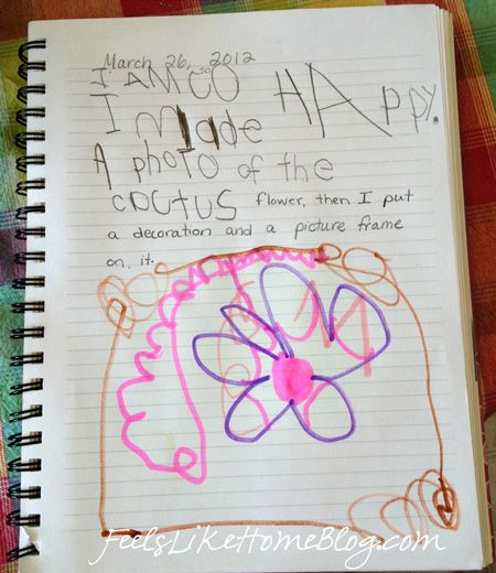 Using a daily journal with emerging writers - plus tips on how much to correct a young child's writing efforts. Encouraging!