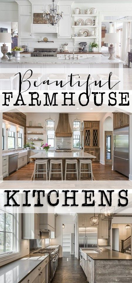 Friday Favorites: Farmhouse Kitchens - House of Hargrove Check out these beautiful farmhouse kitchens for tons of inspiration
