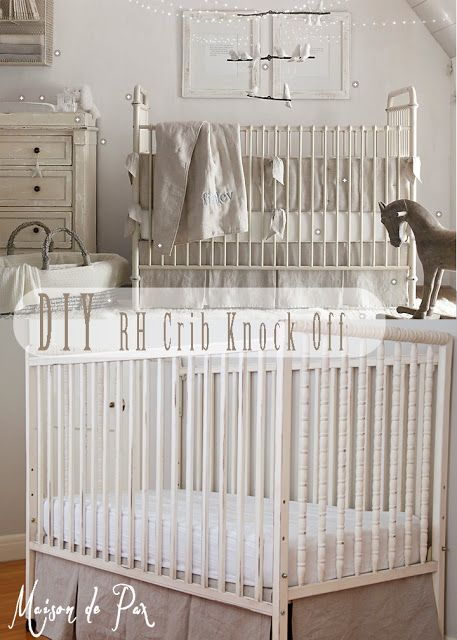 Give a crib a Restoration-Hardware makeover for $7...