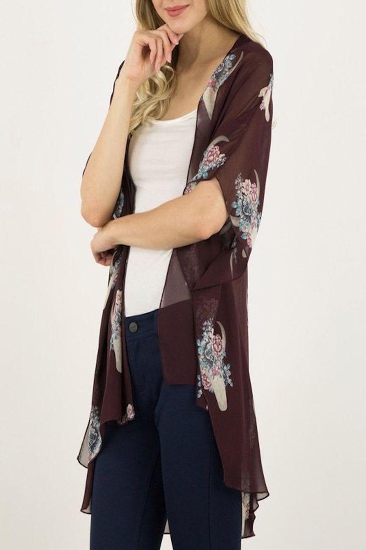 Apricot Lane St. Cloud Dream Weaver Kimono Top - Front Full Image