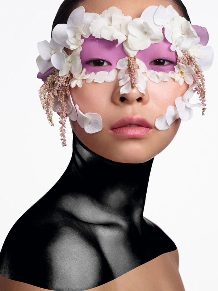 Magazine: Vogue China May 2016 Beauty Editorial: Treat Me with Flowers Photographer: Cuneyt Akeroglu Models: Estelle Chen, Chen Liu, Kouka Webb, Laura Kampman & Vita Kan Hair: Perrine Makeup: Wendy Rowe Nails: Trish Lomax