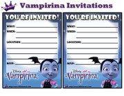 Printable Invitations from the Free Disney Junior Vampirina Printable Party Kit