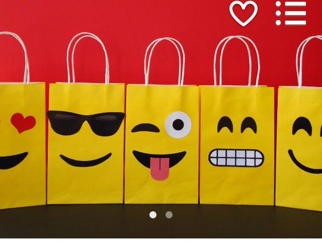 Emoji gift bags