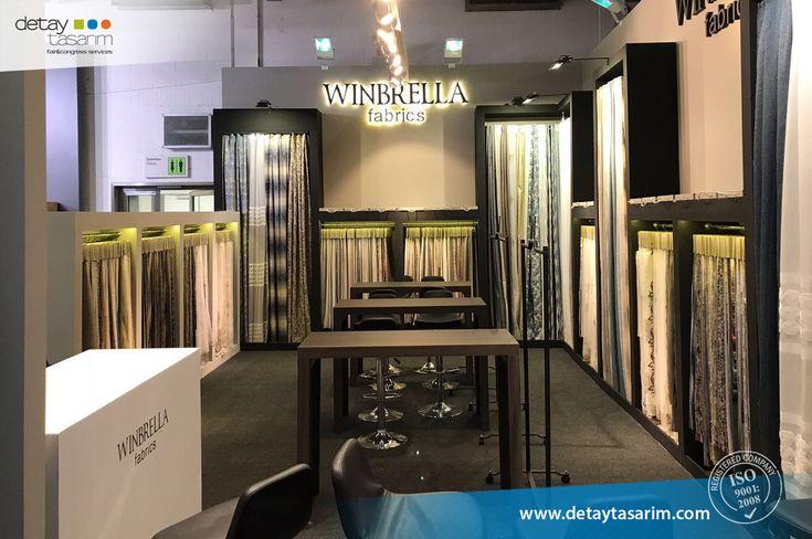 Winbrella / Heimtextil 2018 Frankfurt - Germany  /  www.detaytasarim.com / #fair_stand #turkey_fairs #stand #exhibition #icvbmember #heimtextil #textile_fair