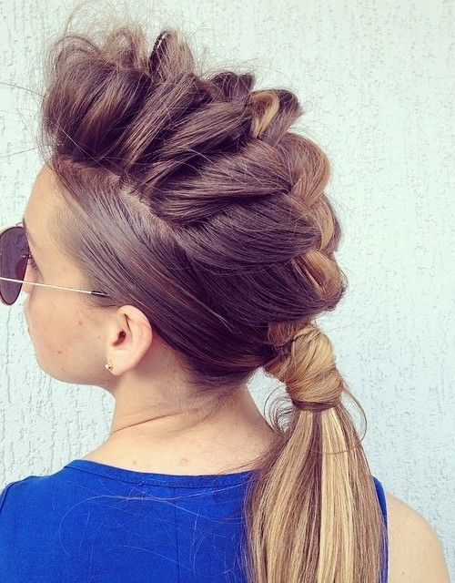 hair styles for with hair best 25 braided mohawk hairstyles ideas on 7033