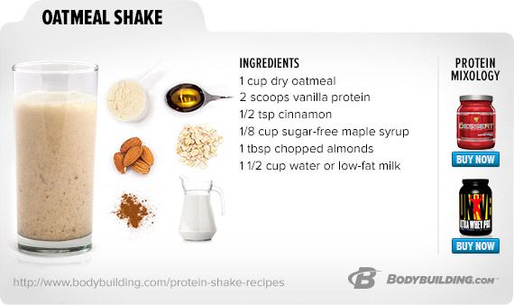 Oatmeal Shake. Feed Your Muscles The Convenient Whey With Our Best Shake Recipes! Bodybuilding.com