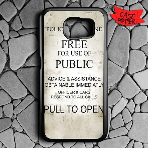 Quotes Box Tardis Doctor Who Samsung Galaxy S7 Black Case