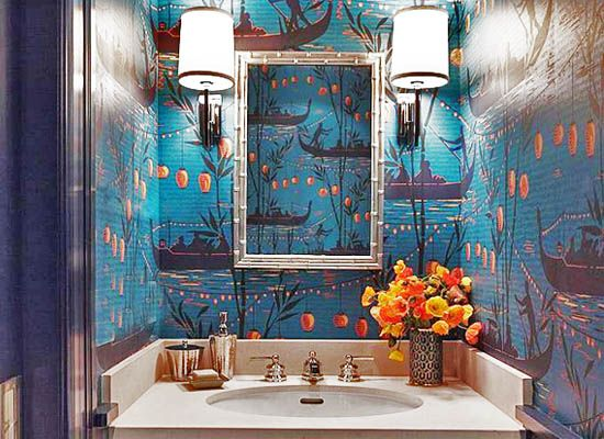 large toile patterns are great for small areas because they unify the space interiors toile wallpaperfoyer ideasdecor