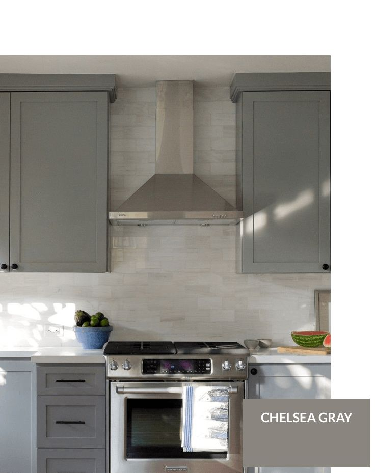 17 best ideas about chelsea gray on pinterest benjamin for Chelsea gray kitchen cabinets