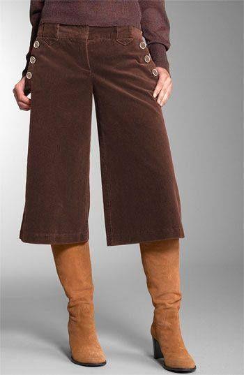 Brown Gaucho Pants
