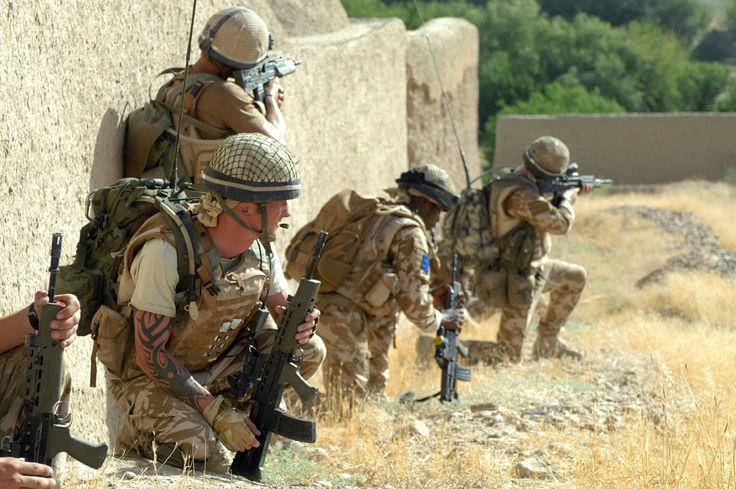 Members of the 2nd Battalion, the Parachute Regiment (2 PARA) pictured on a patrol south of the Kajaki Dam, Helmand Province, Afghanistan, June 2008. ISAF photo by Staff Sgt. Jeffrey Duran, U.S. Army