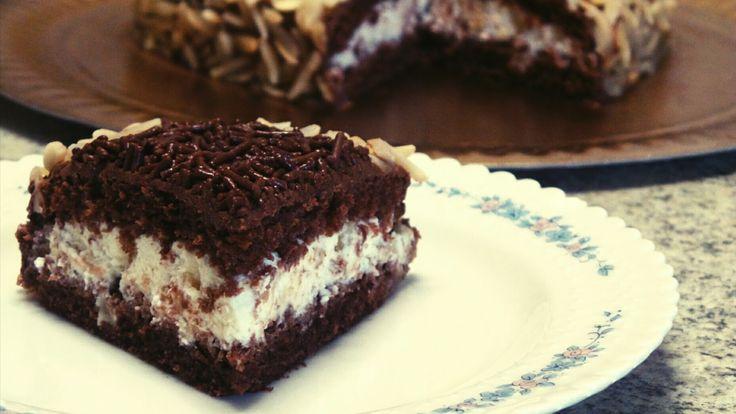 Valentine's day heart-shaped chocolate Almond cake with ricotta hazelnut filling ang greek yogurt frosting