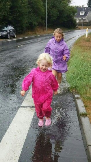 We just love puddles!!!