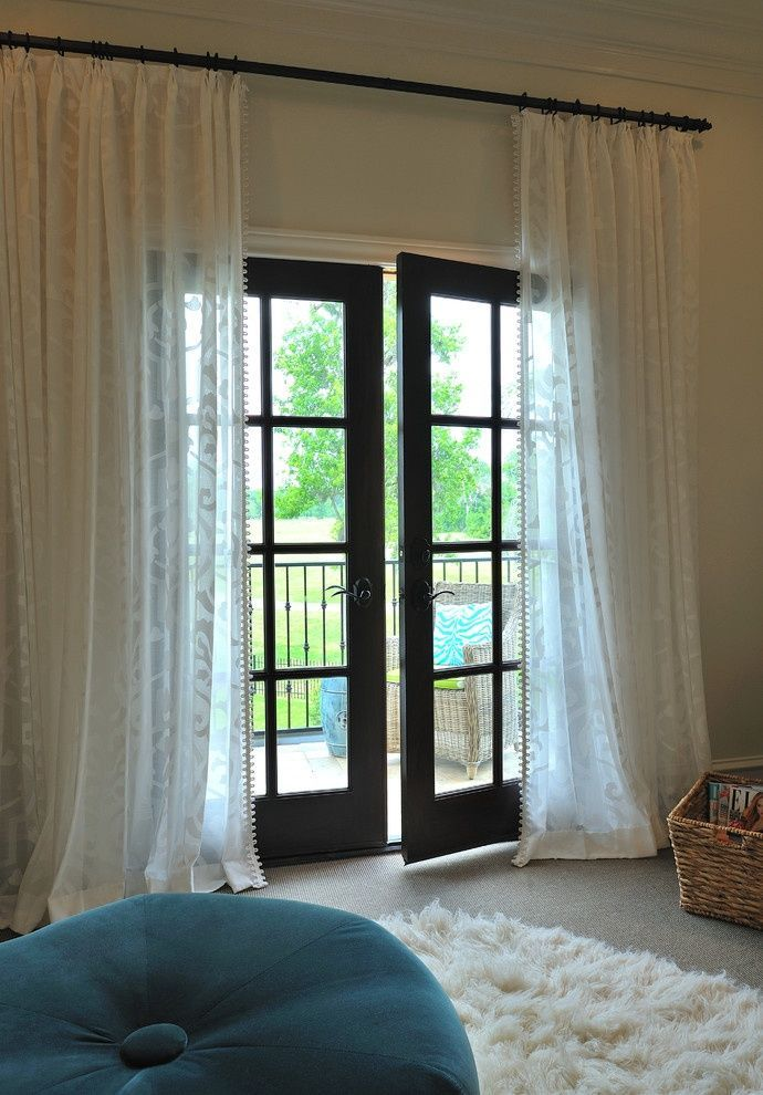 Are you getting ready to redress your covered porch or patio? Are you lucky enough to have an outdoor room equipped with beautiful French doors or windows that overlook your landscaping all year long? Your porch or patio may be not be one of the most populated or used parts of the house, but that doesn't mean it needs to be neglected in the style department. So today we're taking a look at those French door and window curtains and we've got some ideas up our sleeve to inspire you.