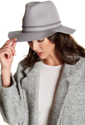 fb5dc6ecab2 Michael Stars Double Band Wool Fedora  hat  womens