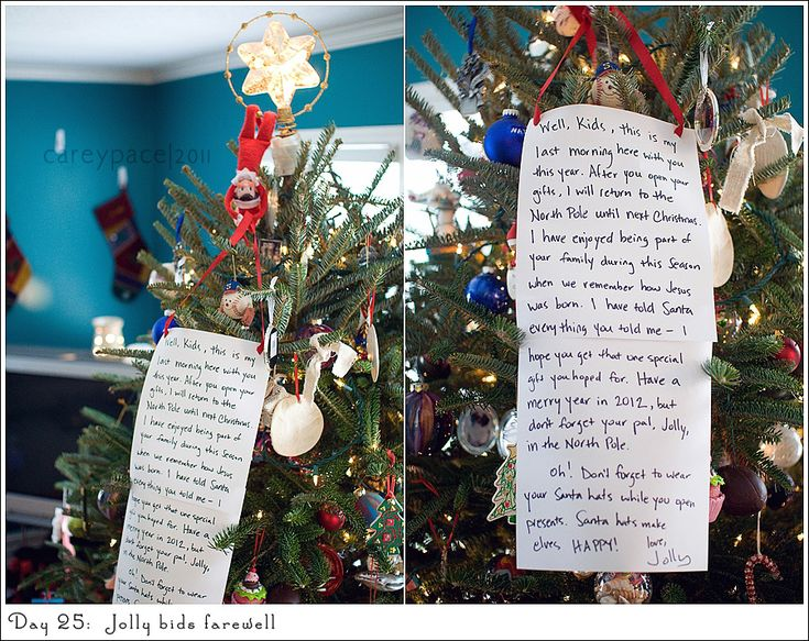Elf on the Shelf - farewell letter