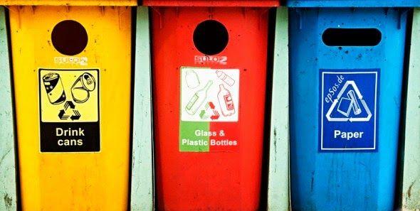 BioOrbis: Cores das lixeiras para separação do lixo recicláv...