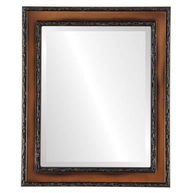 rectangle mirror, brown frame mirror, brown rectangle mirror, contemporary frame mirror