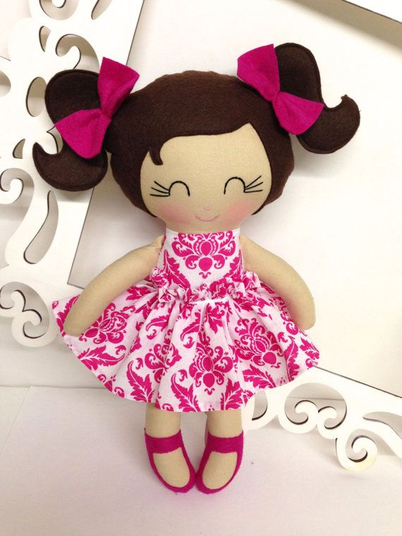 Handmade Dolls, Fabric Dolls, Soft Dolll, Cloth Doll, Rag Doll Cloth…