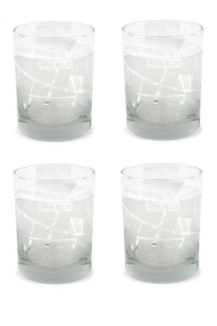 Image of Design Ideas Paris WellTraveled Clear Tumblers - Set of 4