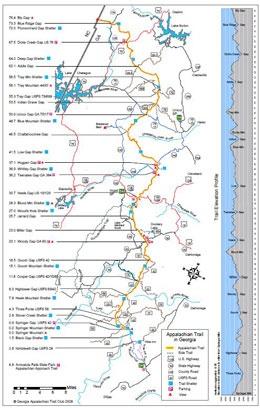 georgia appalachian trail map ... backpacking