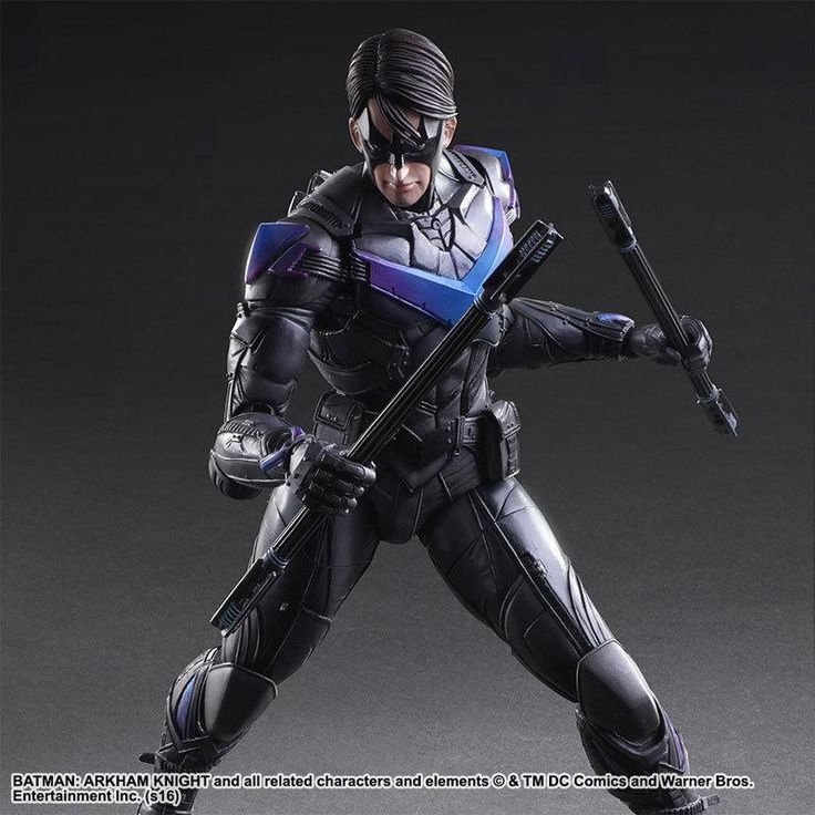 NEW 25cm Batman Arkham Knight Justice league Nightwing Enhanced version action figure collection