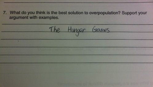 Best solution for overpopulation.