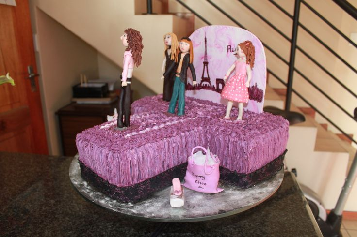 Paris fashion birthday cake