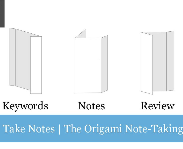 Use this innovative note-taking technique that simultaneously facilitates understanding, increases readability and creates a framework for easy review. Table Of Contents The Origami Note-Taking System   Use a 3-column foldable note layout that doubles as a... #notetaking #productivity #speed