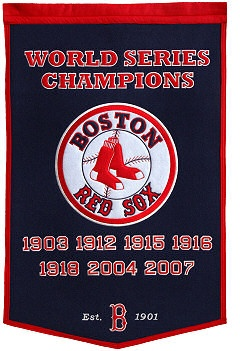 Boston Red Sox Championship Banner.