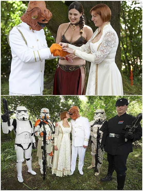 StarWars Wedding - If I could get away with it I would so do this ...
