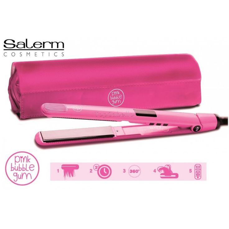 Plancha Profesional Titano 230º PINK BUBBLE GUM Salerm Cosmetics - TopCabello. Tienda Online de productos de peluquería y estética.