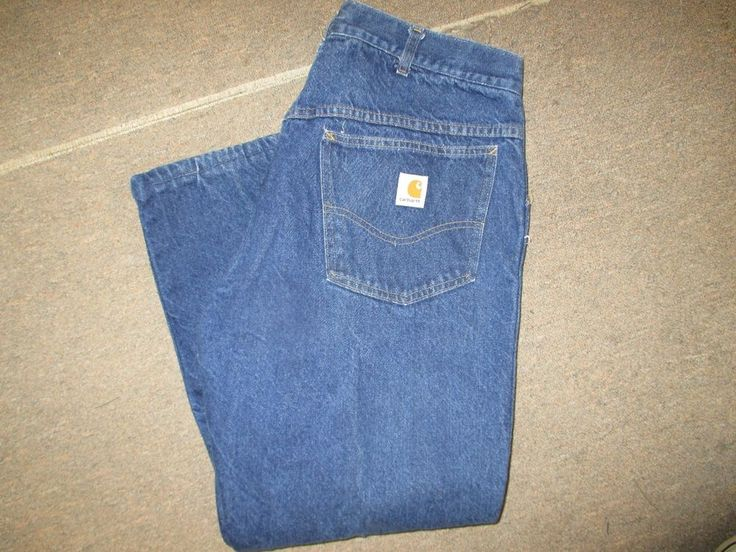 Carhartt Flannel Lined Jeans. Size 38 x 30  U.S.A. Made #Carhartt #FlannelLinedJeans