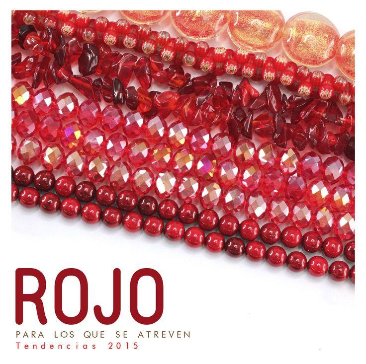 ¿Te atreves? Llena de innovación tu próxima colección con todos nuestros productos de este apasionante COLOR. Te invitamos a dar clic en este pin para que explotes tu creatividad con este hermoso color. #bisuteria #accesorios #moda #tendencias #color #rojo #2015