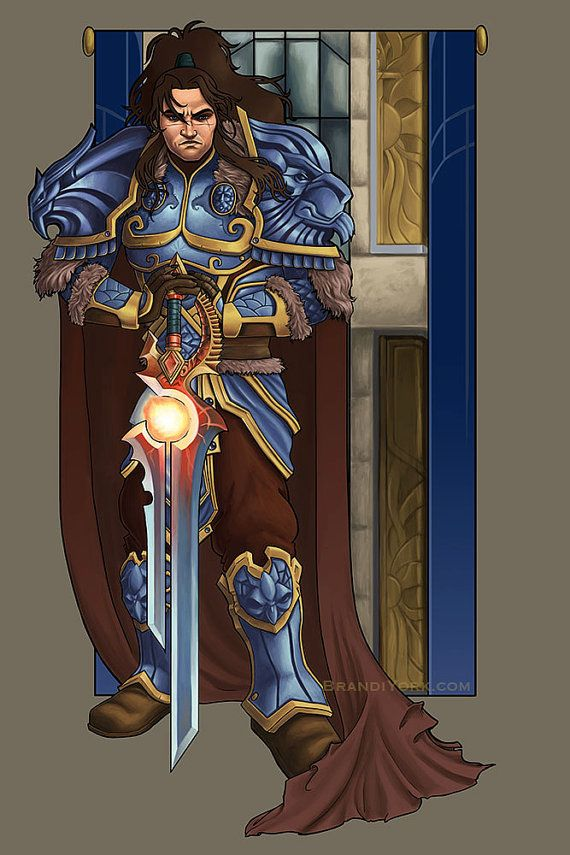 Lion of the Alliance - Print - Varian Wrynn World of Warcraft