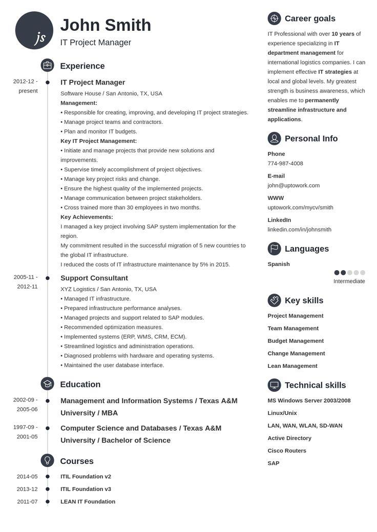 My resume 1 | Uptowork