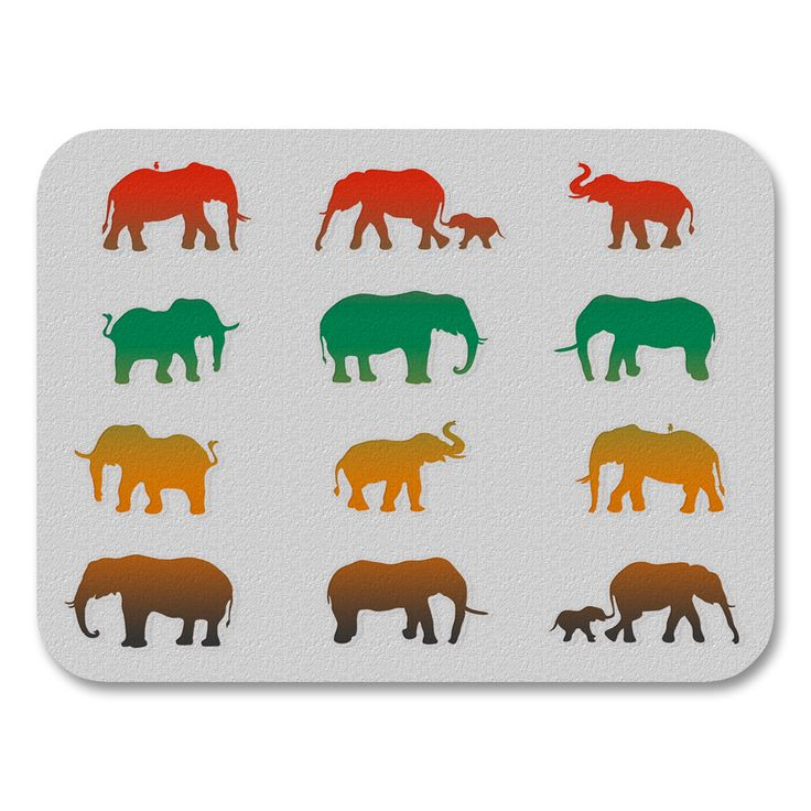 Uneekee Color Elephants Placemats