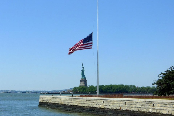 memorial day flag half staff until noon