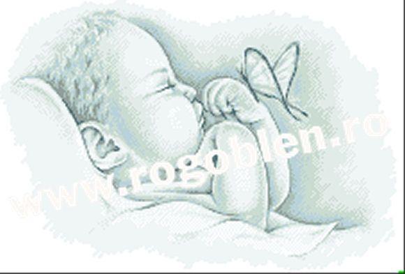 Cod produs: 5.82 - 9417/100 Vis de bebelus (model pe panza Zweigart) Culori: 8 Dimensiune: 16 x 23 cm