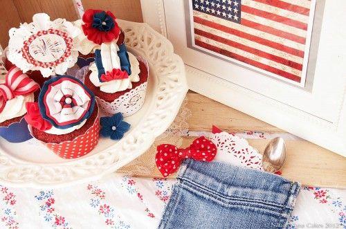 Vintage american dream cupcakes