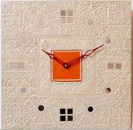 Rajasthani Lippan-wall clock